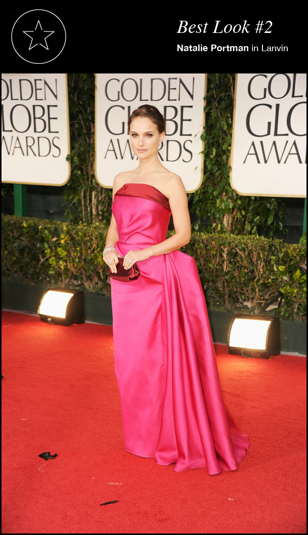 Natalie Portman in Lanvin 69th Golden Globes