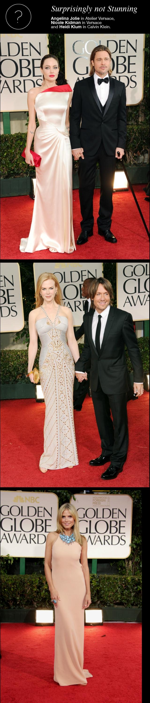 Angelina Jolie, Brad Pitt, Heidi Klum, Nicole Kidman at the 69th Golden Globes