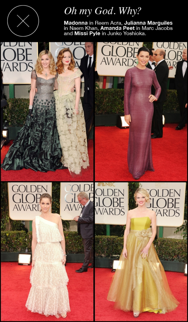 The worst dressed at the 69th Golden Globes
