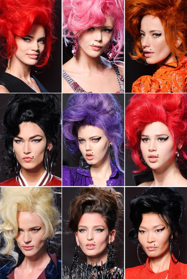 Jean Paul Gaultier Beauty Haute-Couture Spring 2012 inspired by Amy Winehouse