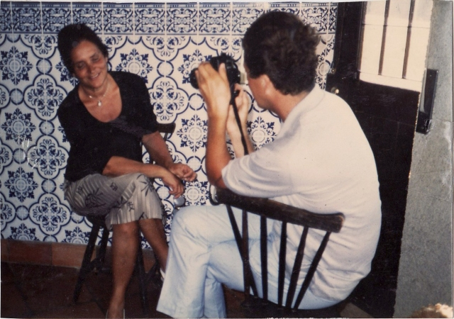 My grandmother being photographed by Mario Testino in Portugal