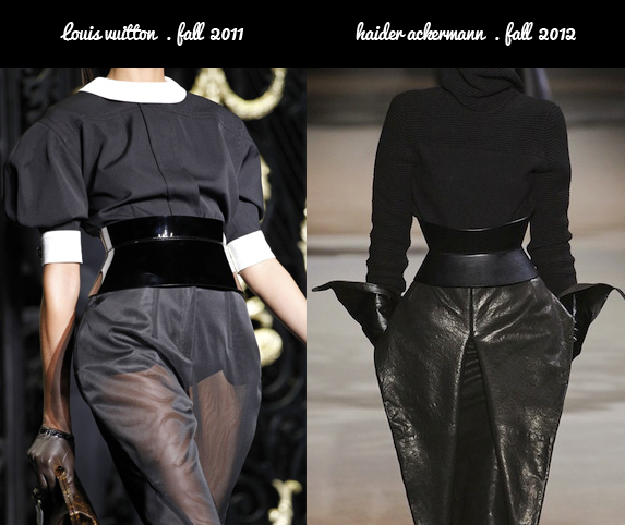 Louis Vuitton Fall 2011 and Haider Ackermann Fall 2011 Corset Belt