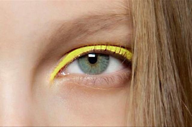 Neon yellow eyeliner