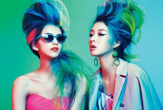 So Young Kang and Vanusa Savaris by Sebastian Kim for Teen Vogue, March 2012