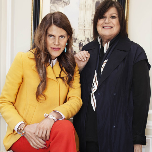Anna Dello Russo and H&M's creative director, Margareta van den Bosch by Magnus Magnusson