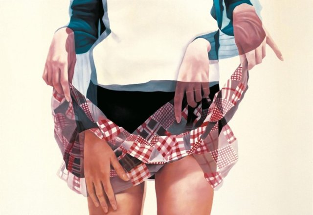 ho-ryon lee overlapping paintings