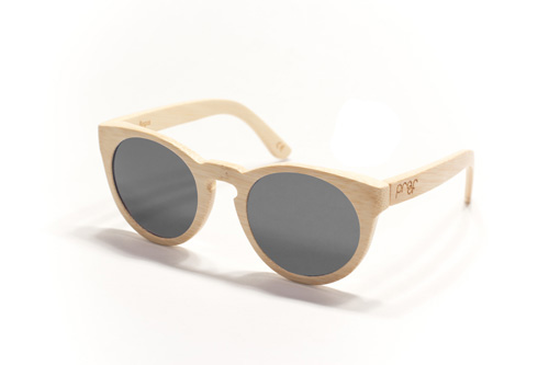 Proof sunglasses - bogus in bamboo with gray polarized lens