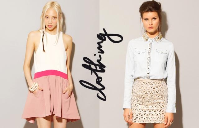 Pixie Market - Pink and Proper Dress + Studded Denim Shirt