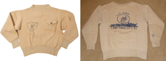 Army 1930's and WWII 1940's Navy Seabees Sweatshirts