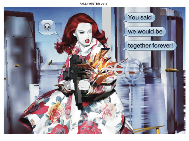 Whaam! Editorial - Lindsey Wixson by Nick Knight for Garage Magazine