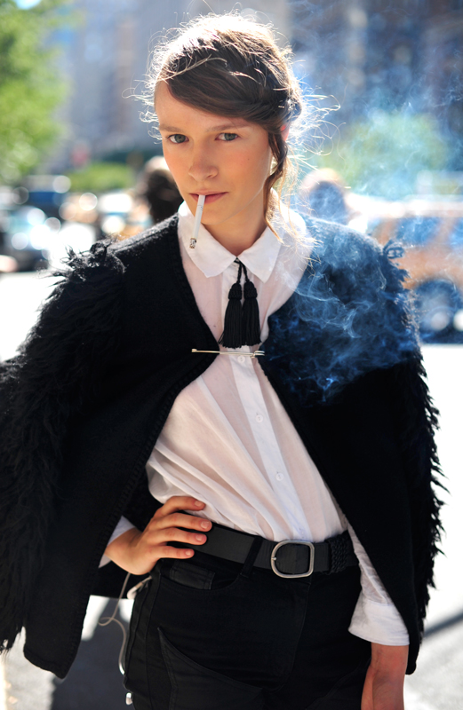 Nadiia Shapoval by Hanneli Mustaparta wearing tassel on collar